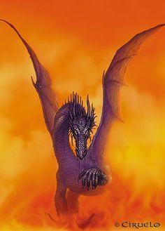 Ciruelo Gallery, Naras Dragon, Acrílicos sobre cartón - 1989.