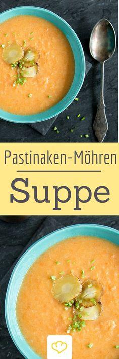 Ob du bereits leidenschaftlicher Pastinaken-Fan bist oder die leckere Wurzel zum ersten mal probierst - diese cremige Suppe mit Möhre wirst du lieben!