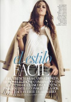 el estilo fácil: izabel goulart by dusan reljin for vogue spain february 2012   visual optimism; fashion editorials, shows, campaigns & more!