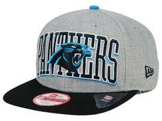 Carolina Panthers New Era NFL Heather Wordmark 9FIFTY Snapback Cap Hats