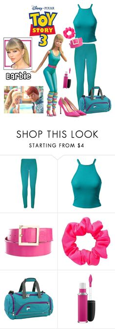 """Barbie"" by allyssister ❤ liked on Polyvore featuring WearAll, Tory Burch, Fila, MAC Cosmetics and Jimmy Choo"