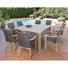 Lovely 100% FSC Certified Teak 9 Piece Dining Set