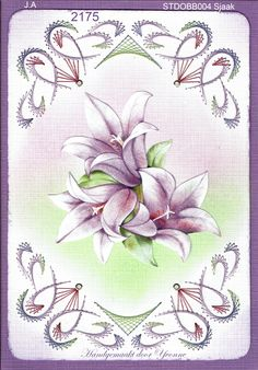 Embroidery Cards, Edge Stitch, String Art, Border Tiles, Cards, Bead, Embroidery, Flowers