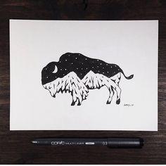 Art by Sam Larson via Instagram | SteelBison.com