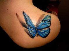 Love love love - butterfly 3D Tattoos  The Next Level of Body Art