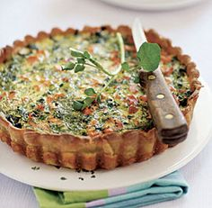 salmon watercress quiche (Gluten Free)