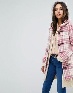 pink plaid coat