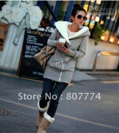 Wholesale 2013 New Winter and Autumn Korean Women's Zipper Up Hooded Cotton Jacket Wild Thick Warm Coat Cotton Gray 1pc/lot Drop Shipping, Free shipping, $16.48/Piece | DHgate