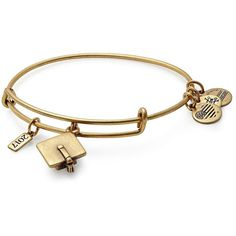 Alex And Ani Path of Symbols Graduation Cap Charm Bracelet ($28) ❤ liked on Polyvore featuring jewelry, bracelets, gold, charm bracelet, adjustable bangle, alex and ani, alex and ani bangles and alex and ani jewelry