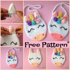 Adorable Crochet Unicorn Purse – Free Pattern #freecrochetpatterns #unicorn #purse #gift