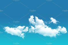 White Cloud in the Blue Sky by salmon.black on @creativemarket