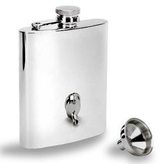 GSI Outdoors Stainless-Steel Flask and Funnel Set.