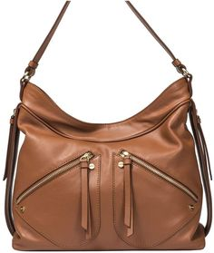 c824e9b36 Borbonese Medium Hobo Shoulder Bag Mochilas, Cuero Marrón, Moda De Lujo,  Bolsa