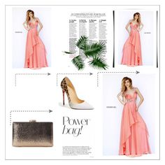 """""""Melon Sherri Hill 9728 Chiffon Long Homecoming Dress"""" by homecomingqueendress ❤ liked on Polyvore featuring Sherri Hill, Christian Louboutin, Prom, dress, cocktail, evening and Homecoming"""