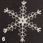 How to make a crocheted snowflake