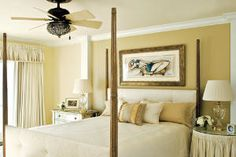 wall are too gold but like clean look and the size of the picture over the bed