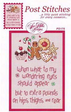 Sue Hillis ten extra pounds cross stitch pattern