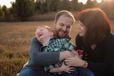 A Woodsy Family Session in the Fall Sunset by Chelsea Ahlgrim Photograph- Tulsa Family Photographer