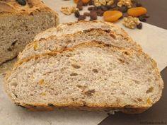 Pan de frutos secos - MisThermorecetas Thermomix Bread, Pan Dulce, Pan Bread, Kitchen Dishes, Empanadas, Bread Recipes, Banana Bread, Baking, Desserts