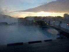 Blue lagoon outside thermal pools, Iceland