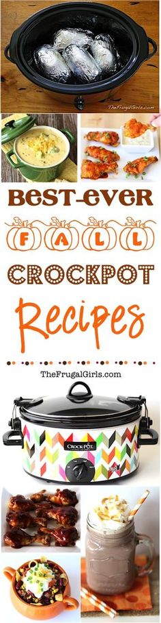 Fall Crockpot Recipes!  {Over 150 Easy Recipes}  Go grab your Slow Cooker and get ready for the Best Cozy Fall Crock Pot Recipes... easy dinners, football party food, and fabulous desserts!