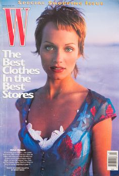 The 25 Best W Magazine Supermodel Covers - Amber Valetta on the cover of W Magazine February 1993-Wmag