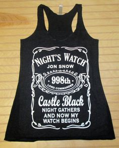Women's Tri Blend Racerback Tank Top Night's Watch Jon Snow Game Of Thrones
