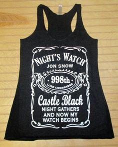 Women's Tri Blend Racerback Tank Top Night's Watch Jon Snow Game Of Thrones