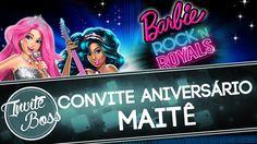Convite Animado Aniversário (Barbie in Rock´n Royals) - Maitê