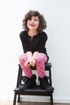 These blue dotted tights hit the bull's-eye. #etsykids