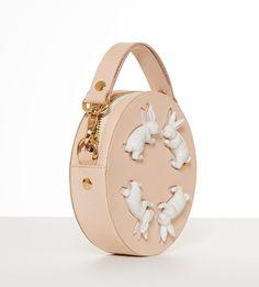 e83d9faa3b4c круглая сумка из натуральной кожи Round Rabbit Mini Bag от ANDRES GALLARDO