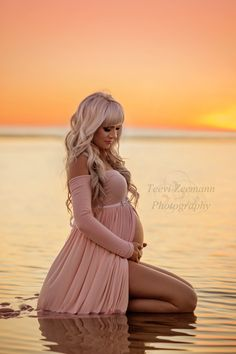Beautiful mama in our #miriam Jersey Maternity Gown by Sew Trendy | Photo by Teevi Zeeman