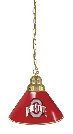 Single Pendant Billiards Light - Ohio State University Buckeyes
