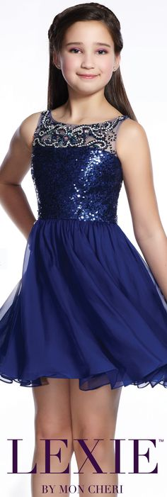 Lexie by Mon Cheri - Sequin 8th Grade Formal Dress - Style No. TW21542 moncheriprom.com #batmitzvahdress