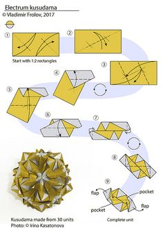 Electrum kusudama - diagram | From 12 units www.flickr.com/p… | Flickr