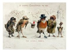 """""""A CHRISTMAS ROBIN"""" by M. Morgan Warren I love the English robin, the little red-breasted bird so closely associated with Christmas that. Merry Christmas Tumblr, Christmas Bird, Christmas Past, Victorian Christmas, Christmas Greetings, Primitive Christmas, Retro Christmas, Christmas Posters, Father Christmas"""