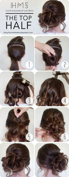 How-To+Curly+Messy+Side+Bun