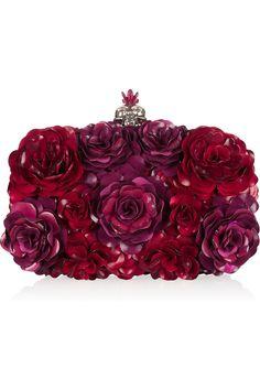 Alexander McQueen flower box clutch