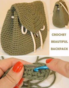 Beautiful Backpack - Crochet Tutorial | Beautiful Skills - Crochet Knitting Quilting | Bloglovin'