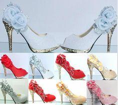 baile la de boda del de de nuevo 2016 Cenicienta lujo de la zapatos princesa de 4X7nw