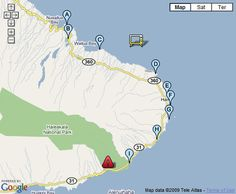 View and print my interactive Road to Hana 'Best Stops' Map and take it to Maui with you. Or just view this map live on the web as you drive the road to Hana.