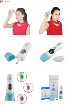 [Visit to Buy] Multifunctional smart child adult medical fever body electronic baby forehead ear infrared thermometer digital lcd products #Advertisement