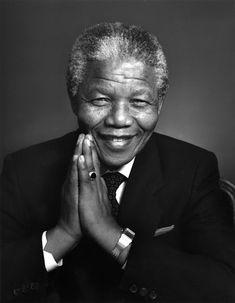 Nelson Mandela by Yousuf Karsh Nelson Mandela, Mandela Art, Yousuf Karsh, Black Presidents, Looks Black, Charles Bukowski, Richard Branson, Black And White Pictures, Famous Faces