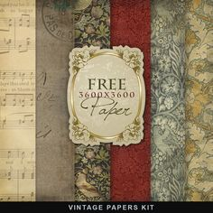 Freebies Vintage Kit:Far Far Hill - Free database of digital illustrations and papers