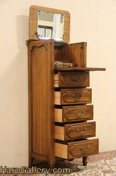 Captivating Antigue Oak Lingerie Chests | ... Lingerie Chest U0026 Dressing Mirror   Harp  Gallery