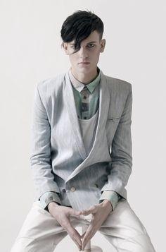 collar, button facing