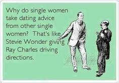 Single woman giving dating advice