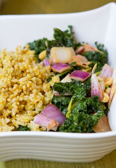 Got Kale in our Bountiful Basket this week.  I'm going to try a peanut ginger kale rice bowl.