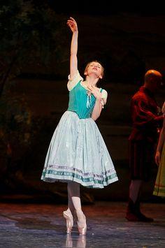 Evgenia Obraztsova as Giselle in Act 1 of Teatro del' Opera di Roma's Giselle.