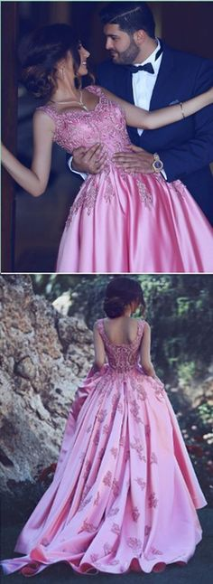 Pink Applique Prom Dress,Bodice A Line Prom Dress,Custom Made Evening Dress,17136#promdress #promgown #prom #dress #gown #longpartydress #charmingpromdress #elegantpromdress #FancyGown #pinkpromdress #promgown